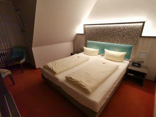 """Unser Zimmer im Hotel """"zur Sonne"""" in Rothenburg"""