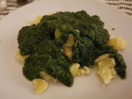 Kartoffeln mit Spinat