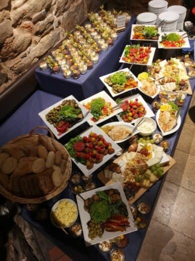 Leckeres Buffet auf Einladung von Leipzig Tourismus