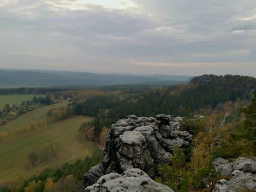 Der Ausblick vom Pabststein in der Sächsischen Schweiz