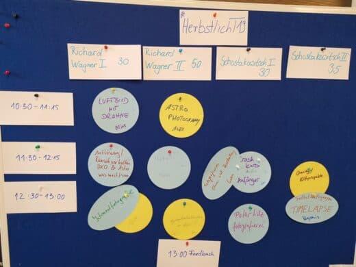 Sessionplan Sonntag beim Fotocamp HerbstlichT19