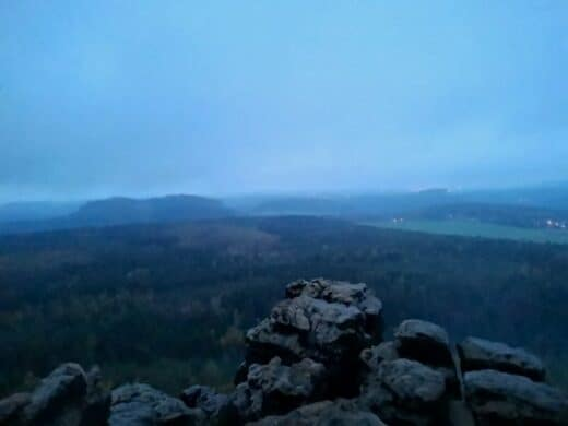 """""""Sonnenaufgang"""" auf dem Gohrisch ;)"""