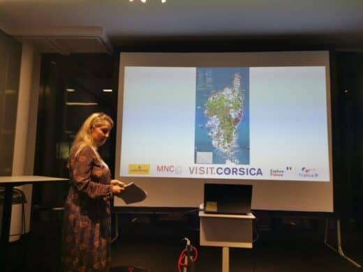 Céline Casanova von Atout France Korsika bei ihrer Präsentation