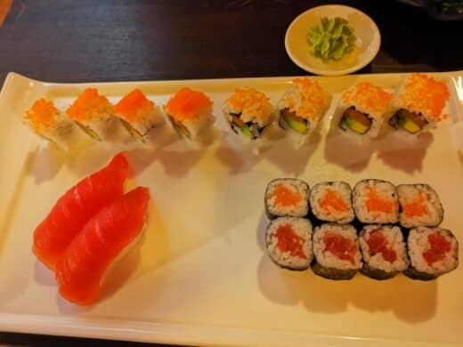 Sushi Menü 4 in der QQ Lounge