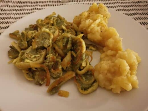 Maultaschen mit Kartoffelsalat bei Nic