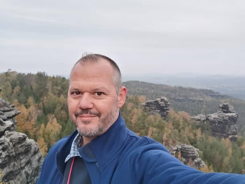 Hubert Mayer 2019 in der Sächsischen Schweiz