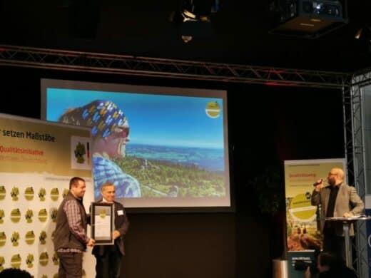 Verleihung der Zertifikate von Wanderbares Deutschland