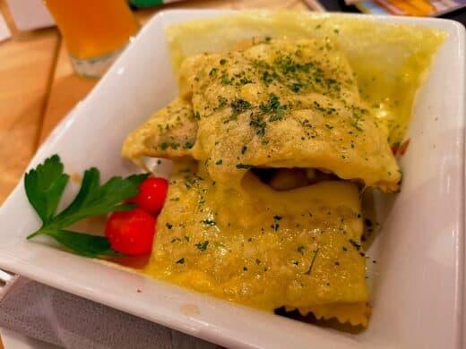 Maultaschen mit Käse überbacken im Forum 3 Stuttgart