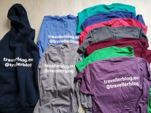 Shirts in allen Farben für meinen Reiseblog travellerblog.eu