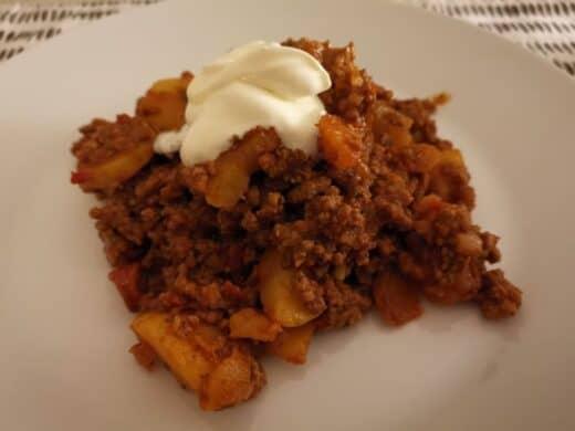 Hackfleisch-Kartoffel-Pfanne