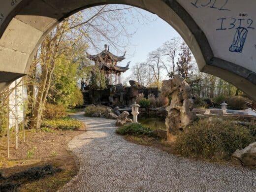 Blick in den chinesischen Garten in Stuttgart