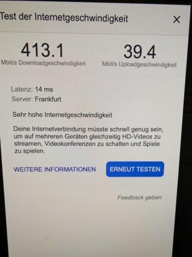 Die Leitung von Unitymedia bzw. jetzt Vodafone taugt!