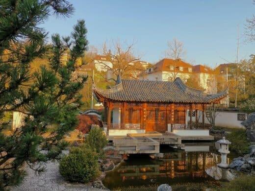 Der chinesische Pavillion, der von der IGA gerettet wurde