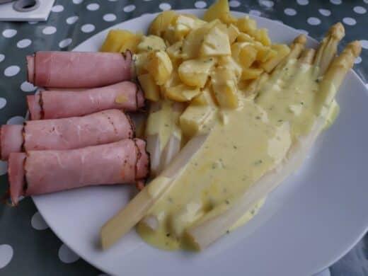 Spargel, Kartoffeln und Schinken!