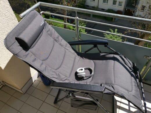 Mein neuer megagroßer bequemer Liegestuhl für den Balkon