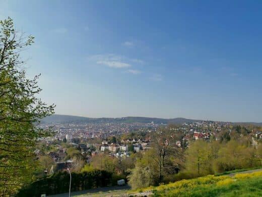 Ausblick am Bismarckturm über den Stuttgarter Westen