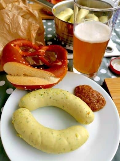 Weisswürste, Weissbier und Bretzel. Ein perfektes Osterfrühstück für mich