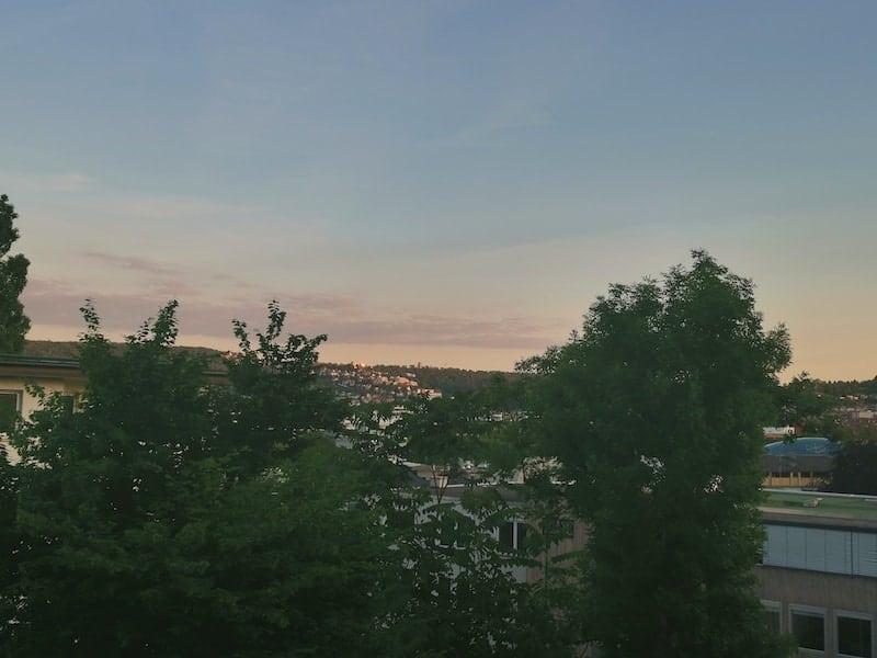 Sonnenuntergang auf meinem Balkon