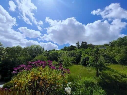 Der Blick von Nics Balkon mit herrlichem Wolkenspiel am Sonntagmorgen