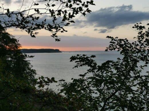 Nochmal ein Blick zurück zum herrlichen Sonnenuntergang