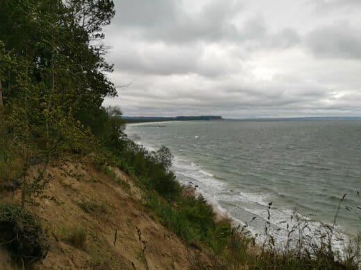 Auf meiner Nordperdrunde rauschte die Ostsee an die Steilküste