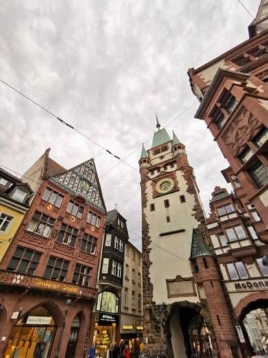 Das Schwabentor (?) in Freiburg