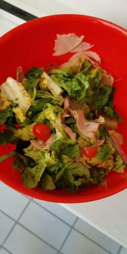 Nur etwas Salat für mich am Dienstag