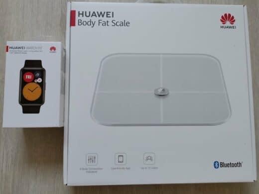 Huawei Watch Fit und Waage