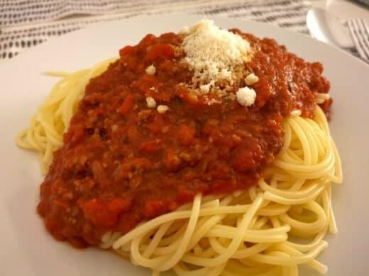 Lecker Spaghetti Bolognese