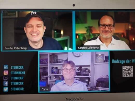 stbnhckr livestream mit Sascha Pallenberg, Karsten Lohmeyer und Christian Spanik
