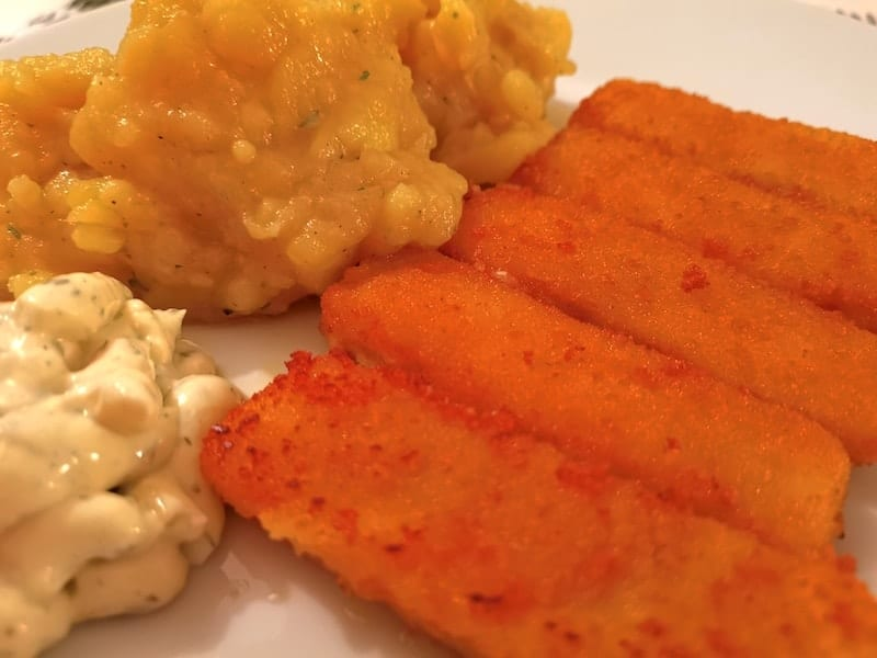 Fischstäbchen mit Nics selbstgemachten fantastischen Kartoffelsalat