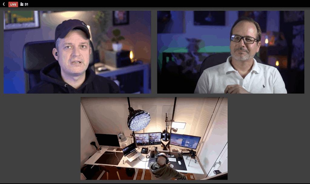 Screenshot aus dem Stbnhckr Livestream auf dem das Setup von Marcus JH Brown gerade zu sehen ist