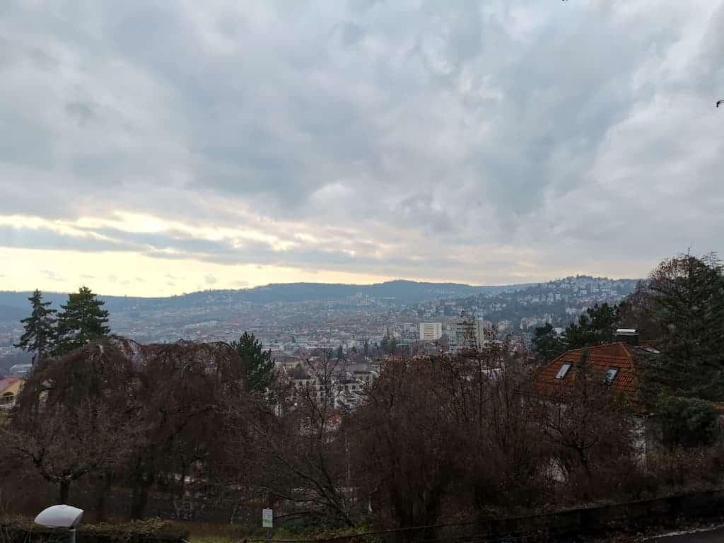 Aussicht auf Stuttgart Nord und West