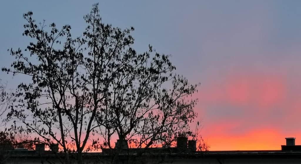 Der Mittwoch startete mit einem tollen Sonnenaufgang