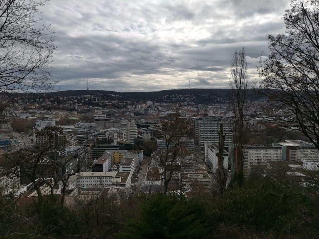 Aussicht über Stuttgart bei meinem Spaziergang