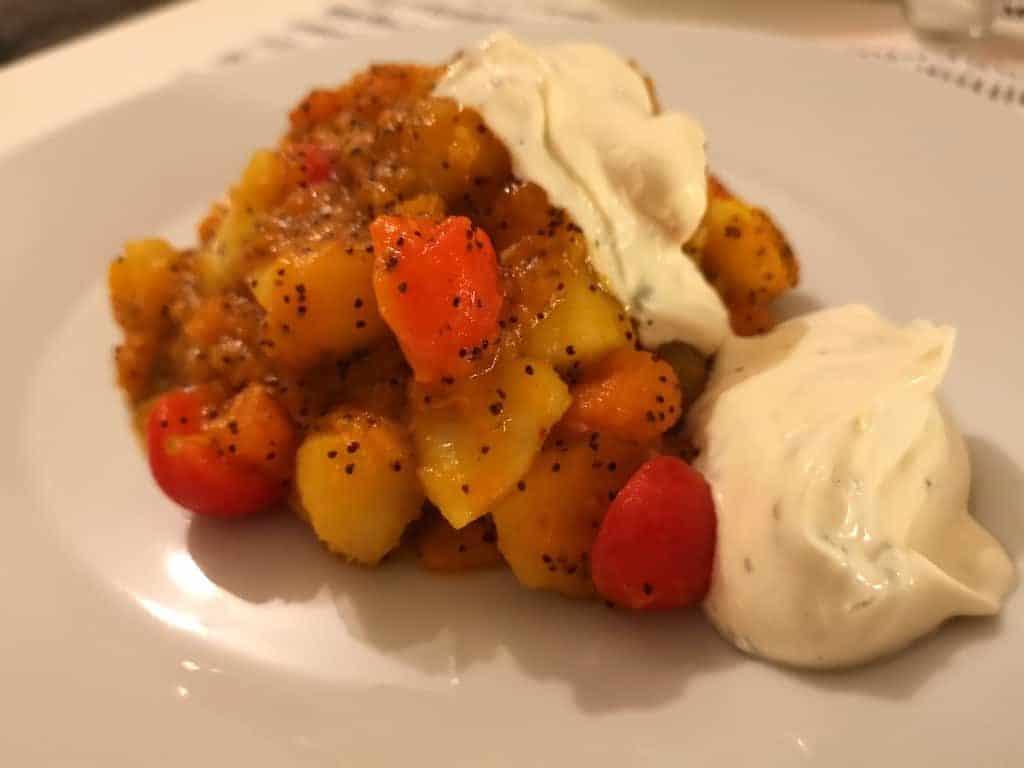 Kürbis-Kartoffel-Topf mit Quark