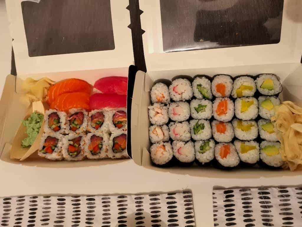 Bestelltes Sushi von Art Sushi Stuttgart
