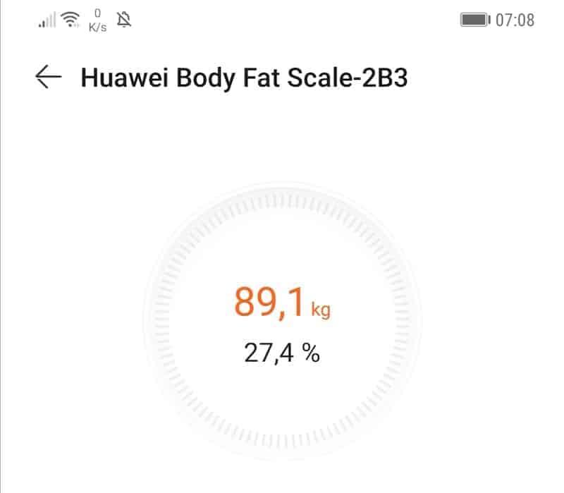 Das erste Mal dieses Jahr - und seit langer Zeit - die 90 kg unterschritten.