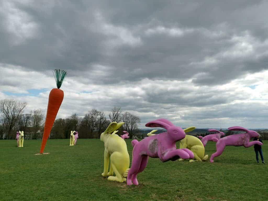 Hasen und Karotte im Scharnhauser Park