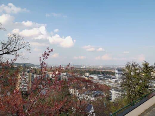 Aussicht über Stuttgart während meines Spazierganges