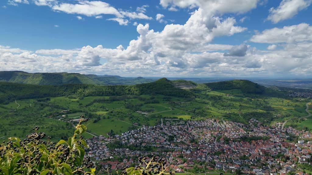 Ausblick von der Burg Hohenneuffen