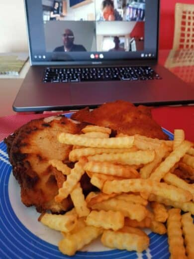 Schnitzel mit Pommes, selbstgemacht beim #SchnitzelS