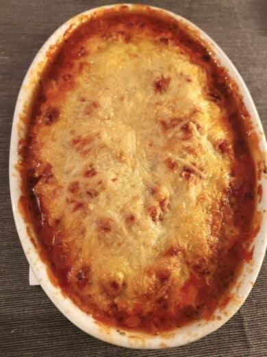 Lachs-Tomaten-Käse-Auflauf