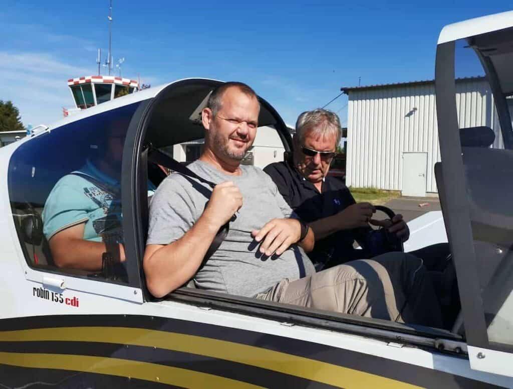 Hubert Mayer om Flugzeug in Churfranken