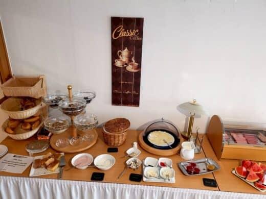 Kleines, aber feines Frühstücksbuffet im Kondrauer Hof