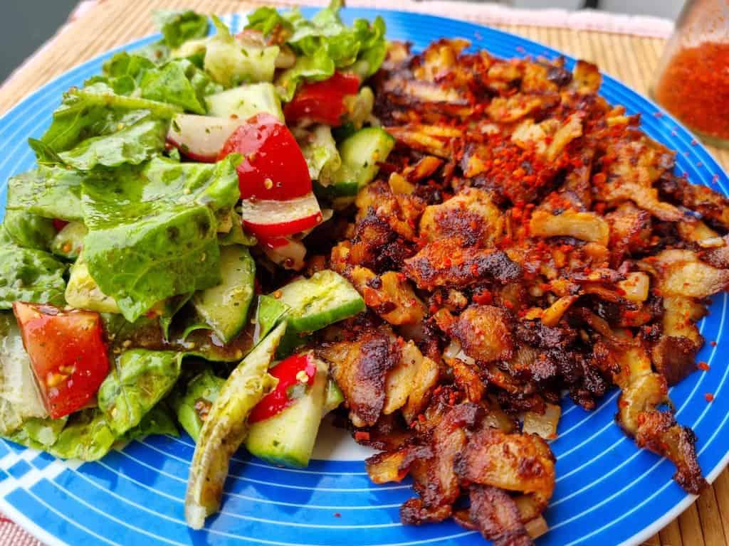 Hähnchendöner mit Salat