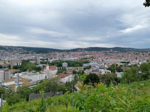 Ausblick über Stuttgart