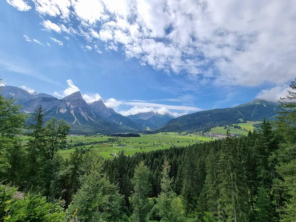 Panorama auf dem Panoramaweg Ehrwald - Lermoos
