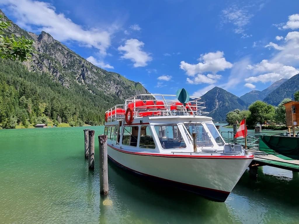 Mit der MS Margarethe ging es über den Heiterwanger See und den Plansee