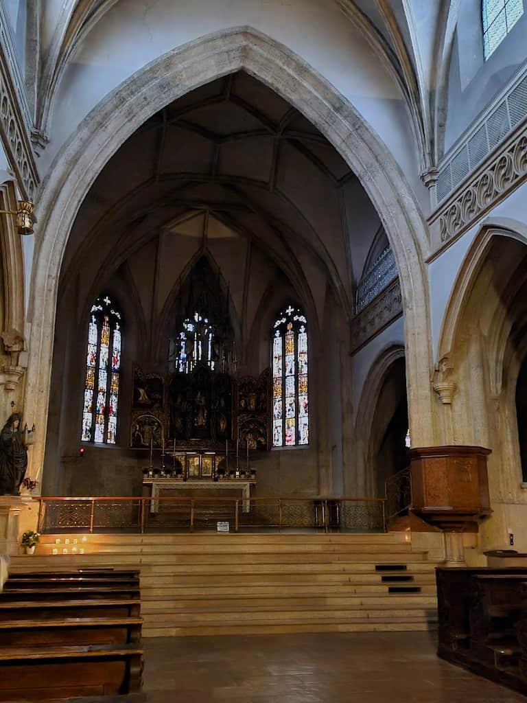 Stiftskirche Stift Nonnberg am frühen Morgen